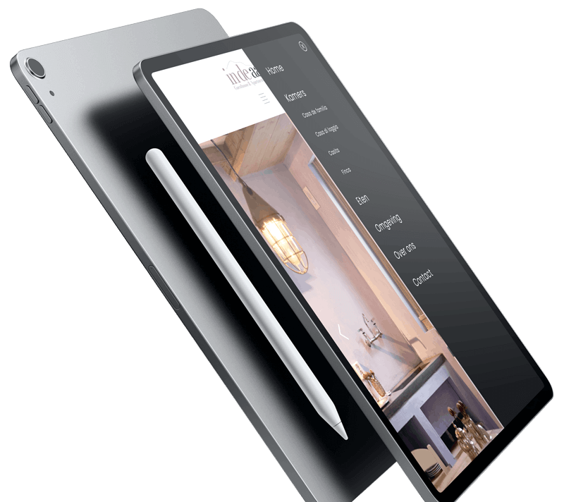 in de aap hotel mockup iPad pro website laten maken